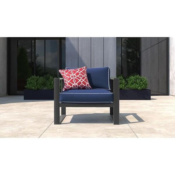 Shop Tommy Hilfiger Monterey Outdoor Arm Chair Gray Gunmetal Free