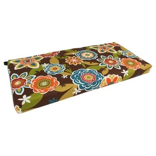 Blazing Needles All-Weather 40-inch Designer Bench Cushion (More options available)