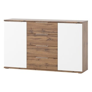 Livorno Matte White/Oak Finish 4-drawer 2-door Sideboard (2 options available)