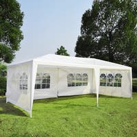 Outsunny Gazebo Canopy Tent with 4 Removable Window Side Walls (As Is Item)