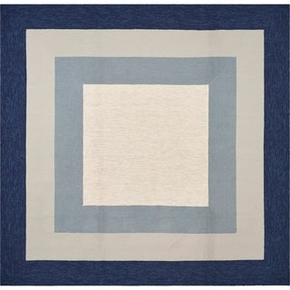 Libby Langdon Hamptons Slate/Navy Highview Square Rug - 7' x 7'