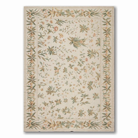 Costikyan Country Cottage French Needlepoint Area Rug - 6' x 9'