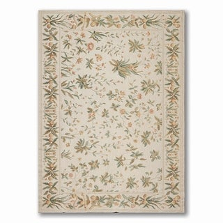 Costikyan Country Cottage French Needlepoint Area Rug - Multi-color - 6' x 9'