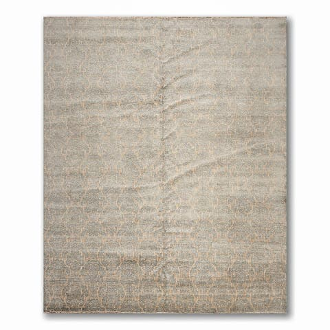 Hand-Knotted Samad Transitional Oriental Pile Area Rug - Grey/B - 9' x 12' - 9' x 12'