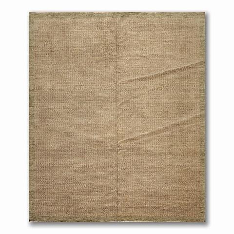 Samad Modern Textured Look Oriental Pile Area Rug - Sage/Gold - 8' x 10' - 8' x 10'