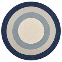 Libby Langdon Hamptons Slate/Navy Highview Round Rug - 7' x 7'