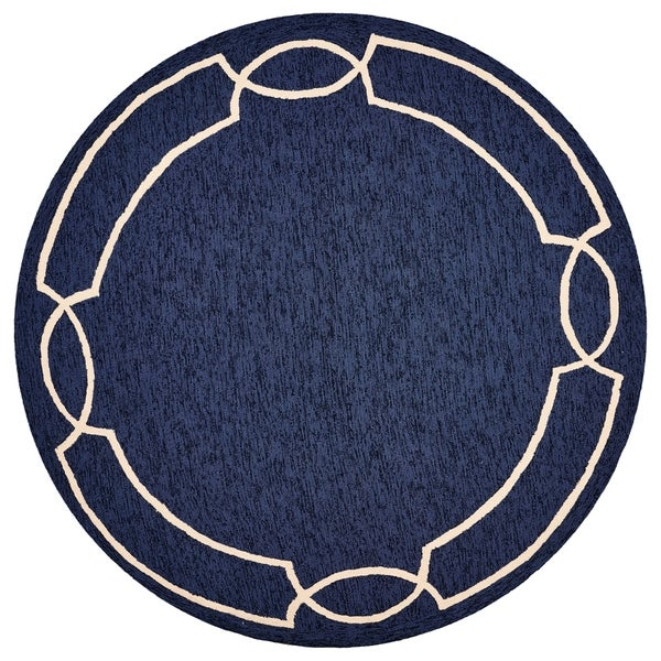 Havenside Home Wales Ocean Madison Outdoor Round Rug - 7' Round