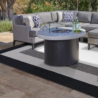 Libby Langdon Hamptons Charcoal Highview Square Rug - 7' x 7'