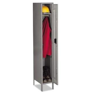 Tennsco Single Tier Locker with Legs, 12w x 18d x 78h, Medium Gray