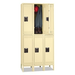 Double Tier Locker with Legs, Triple Stack, 36w x 18d x 78h, Sand