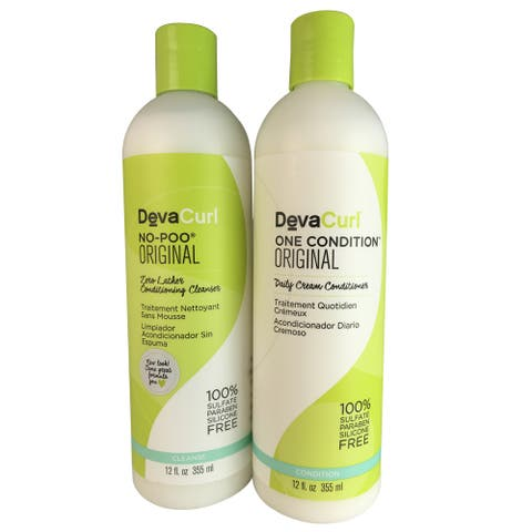 DevaCurl 12-ounce No-poo & One Condition Original Duo