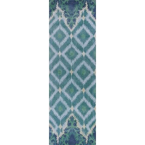 Bob Mackie Home Blue/Green Opulence Rug