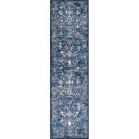 Bob Mackie Home Vintage Azure Blue Marrakesh Runner Rug - 2'2 x 7'10