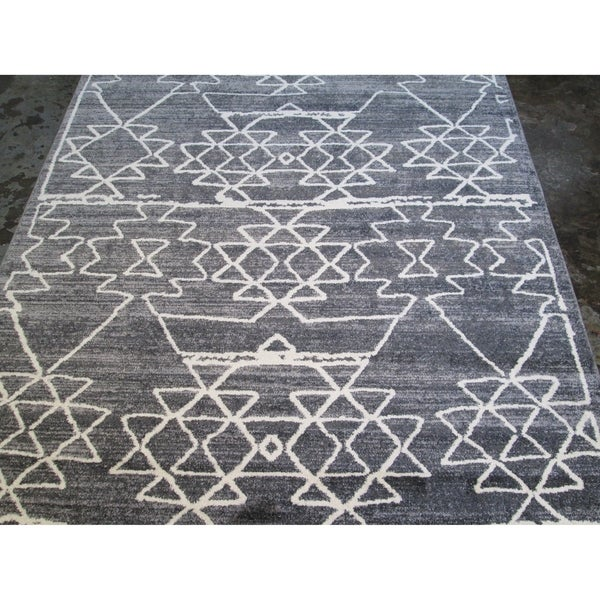 Huge Hand Carved Farmhouse Grey Faux Wool Area Rug 7 10 X 6 On Free Shipping Today 21945582