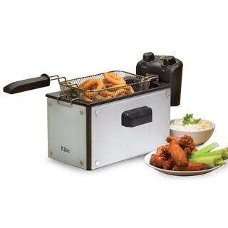 Elite EDF-3500GW 3.5-Quart Full Immersion Deep Fryer, White