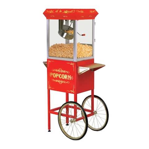 Elite EPM-200 8-Oz. Popcorn Trolley, Red