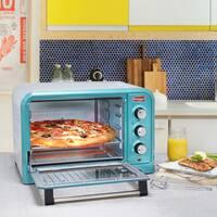 Elite Americana ERO-2600BL 6-Slice Retro Toaster Oven, Blue