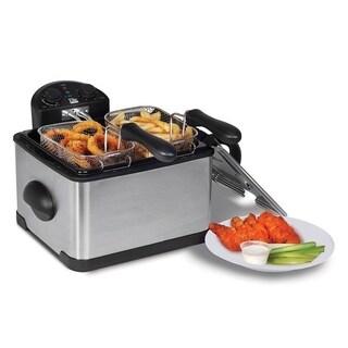 Elite Platinum EDF-401T 4-Quart Dual Basket Deep Fryer