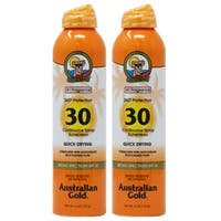 Australian Gold 6-ounce continuous Spray Quick Drying SPF 30 (Pack of 2)