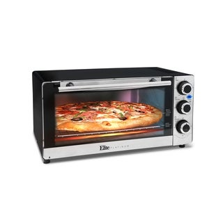 Elite Platinum ETO-140C Countertop Convection 6-Slice Toaster Oven, Stainless Steel