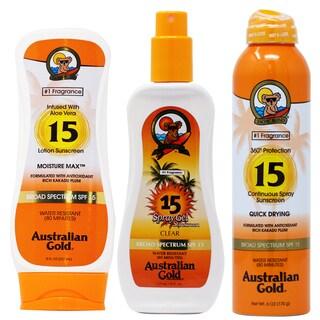 Australian Gold SPF 15 Lotion 3-piece Set