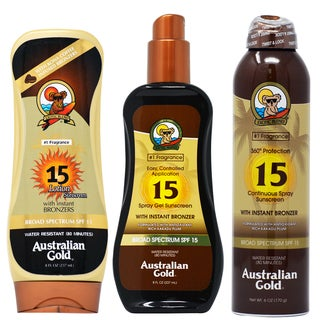 Australian Gold SPF 15 Bronzers Lotion 3-piece Set