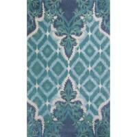 Bob Mackie Home Blue/Green Opulence Rug - 3'3 x 5'3
