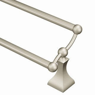 "Moen Retreat 24"" Double Towel Bar DN8322BN Brushed Nickel"