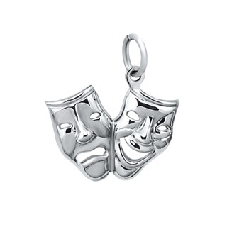 Sterling Silver Large Comedy/ Tragedy Charms