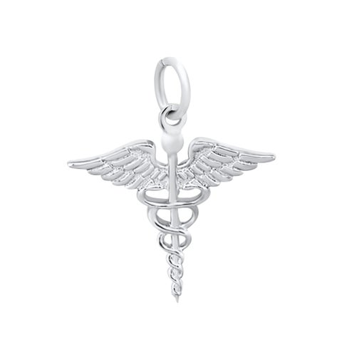 Sterling Silver Medical ( Caduceus ) Symbol Charms