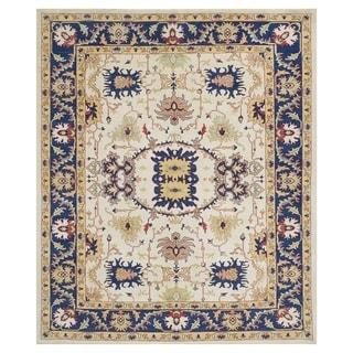 Handmade Oushak Vegetable Dye Wool Rug (Afghanistan) - 8'11 x 10'9