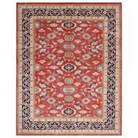 Handmade Herat Oriental Afghan Bahara Collection Hand-knotted Oushak Vegetable Dye Wool Rug (Afghanistan)