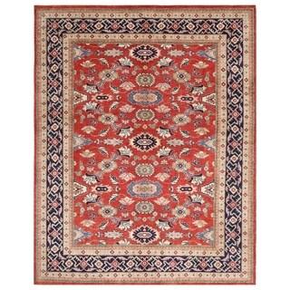 Handmade Herat Oriental Afghan Bahara Collection Hand-knotted Oushak Vegetable Dye Wool Rug - 7'9 x 9'9 (Afghanistan)