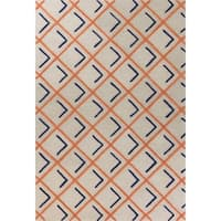 Libby Langdon Soho Tangerine/Indigo Cotton and Wool Cooper Area Rug - 8'6 x 11'6