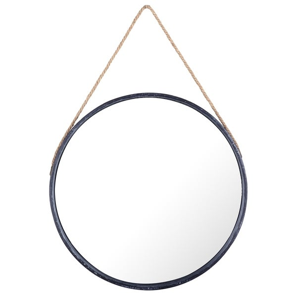 Shop Round Hanging Metal I Wall Mirror With Rope By