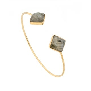 Alchemy Jewelry Labradorite Diamond Gemstone Bangle
