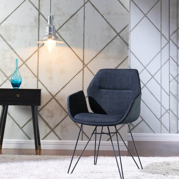 Tremendous Shop Zane Accent Chair Blue Free Shipping Today Machost Co Dining Chair Design Ideas Machostcouk