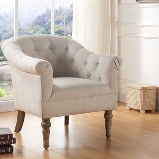 Shop Classic Scroll Arm Tufted Velvet Chesterfield Accent