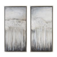 Nightdusk Silver Gallery Wrapped Framed Art (set of 2)