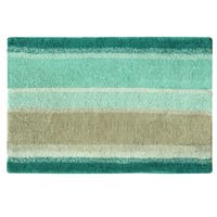 Coastal Stripe bath rug by Bacova