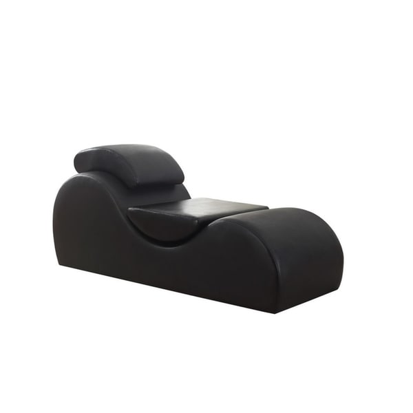 Delicieux Bang Bang Modern Upholstered Faux Leather Yoga Stretch Relaxation Living  Room Chaise/Chair