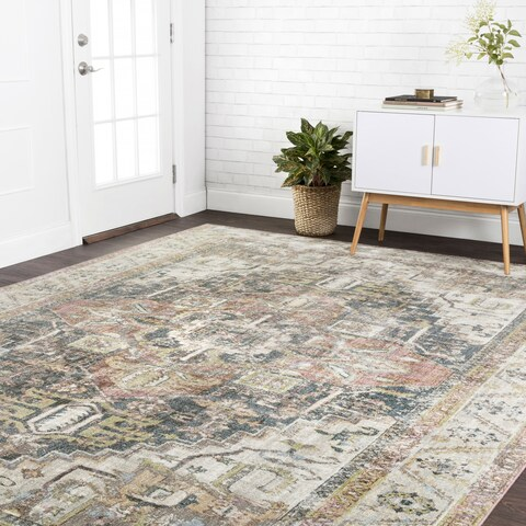 Traditional Multi Antique Inspired Medallion Rug - 13' x 18'