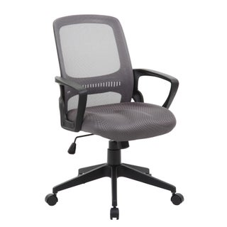 Boss Office Products Grey Mesh Task Chair