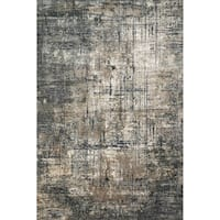 "Vintage Glam Grey/ Moss Green Abstract Area Rug - 2'7"" x 4'"