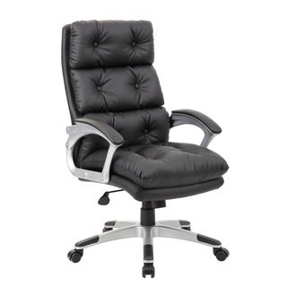 Boss Office Products Black Button Tufted Executive Chair