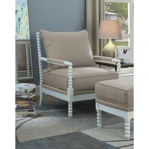Best Master Furniture Beige/ White Arm Chair