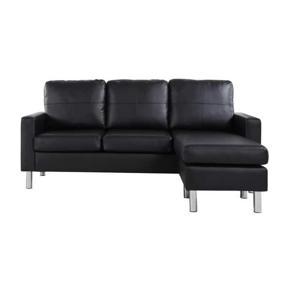 Astounding Shop Modern Small Bonded Leather Sectional Sofa Free Short Links Chair Design For Home Short Linksinfo