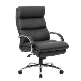 Boss Office Products Black Heavy Duty Executive Chair