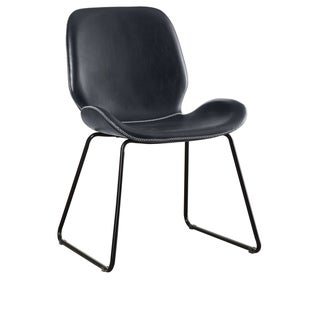 Link to Furniture of America Gill Modern Faux Leather Curved Accent Chair Similar Items in Corner Chairs