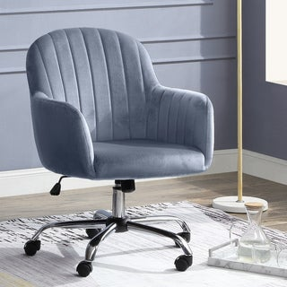 Furniture of America Geln Contemporary Velvet Fabric Office Chair